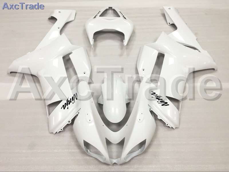 Motorcycle Fairings Kits For Kawasaki Ninja ZX6R 636 ZX-6R 2007 2008 07 08 ABS Plastic Injection Fairing Bodywork Kit White A672 abs plastic motorcycle body fairing kits for kawasaki zx6r 1998 1999 orange green full fairings bodywork ninja 636 zx 6r 98 99