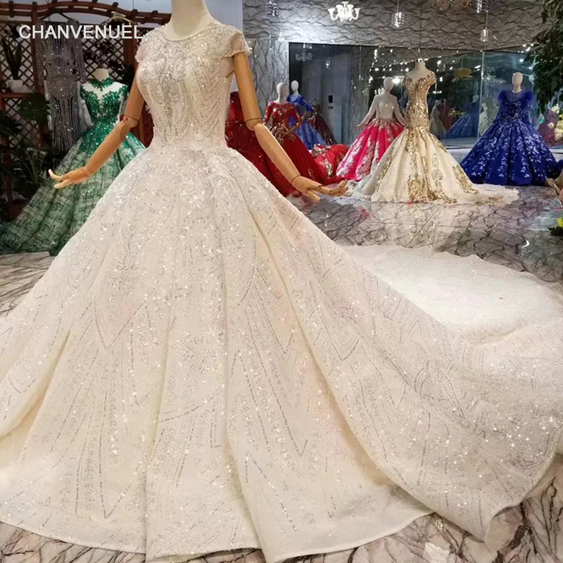 Detail Feedback Questions about LS11284 luxury new wedding dresses o neck  crystal cap sleeves ball gown hand working wedding gowns with long train  high ... 74498d9c9916