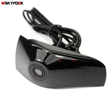 CCD камера с логотипом для автомобиля, вид спереди, для Toyota Camry highlander, передняя решетка, камера с положительным видом, PAL/NTSC