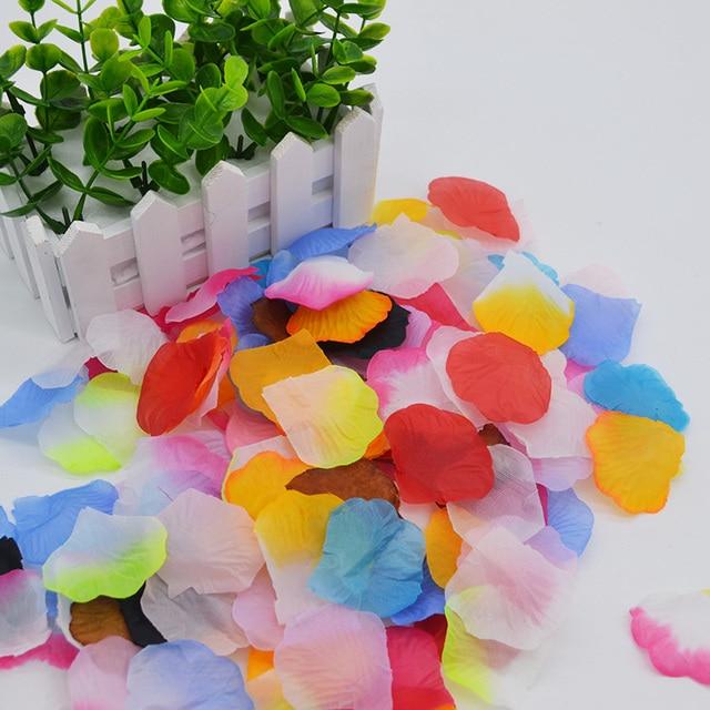 1000pcs Artificial Decorative Flower Silk Rose Petals Wedding Party