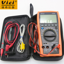VC99 Auto Range 3 6/7 Digital Multimeter 20A Resistance Capacitance Meter Voltmeter Ammeter with Alligator Probe(1m Length)(China)