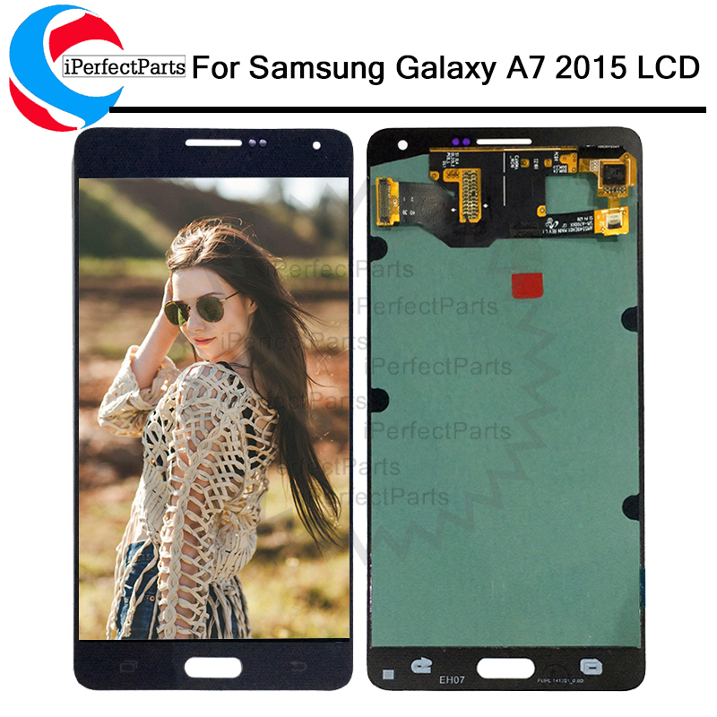 5 5 Super amoled Replacement LCDs For SAMSUNG GALAXY A7 2015 LCD A700 A700F Display Digitizer