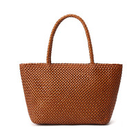 new arrival famous handmade rattan weaving craft women leather hand bags