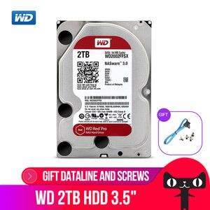 Image 1 - WD KıRMıZı Pro 2TB Disk Ağ Depolama 3.5 NAS sabit Disk Kırmızı Disk 2TB 7200RPM 256M önbellek SATA3 HDD 6 Gb/s WD2002FFSX