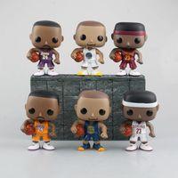 Sevimli Bobblehead Basketbol Yıldızı Kobe Curry James Action Figure DIY Animasyon Doll Çocuklar Oyuncak Yetişkin oyuncaklar Minyatür Modeli