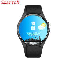 Smartch bluetooth Smart Watch KW18 Round Screen support SIM TF card Heart rates music bluetooth smartwatch kw88 For IOS Android