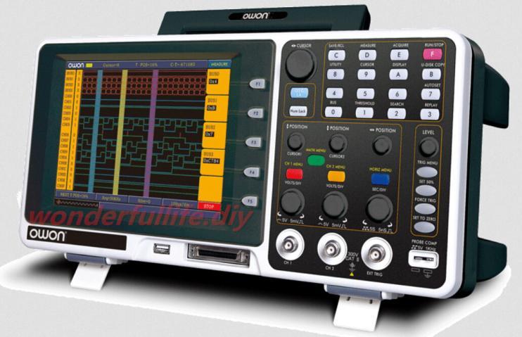 8 TFT LCD Display Digital Storage Oscilloscope USB + Logic Analyzer Bandwidth 200MHz Sample Rate 2GS/s DSO MSO8202T