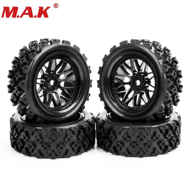 где купить 4pcs/set Racing Off Road Tires PP0487+BBNK 1:10 RC Rubber Tyre Rim Car Accessories по лучшей цене