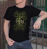 Chất Lượng hàng đầu 2017 New Brand 'S Men Gojira Men Đen T-Shirt Kim Loại Ban Nhạc Fan Tee Shirt Biểu Tượng Cây Kích Thước S-XXL