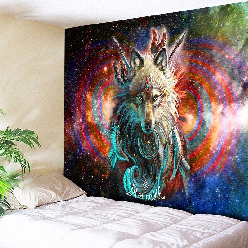 Wolf Warrior Tapestry Dreamcatcher Wall Hanging Wolf