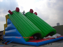 commericial super large 2016 PVC best quality inflatable double lane slide inflatable slide for entertainment