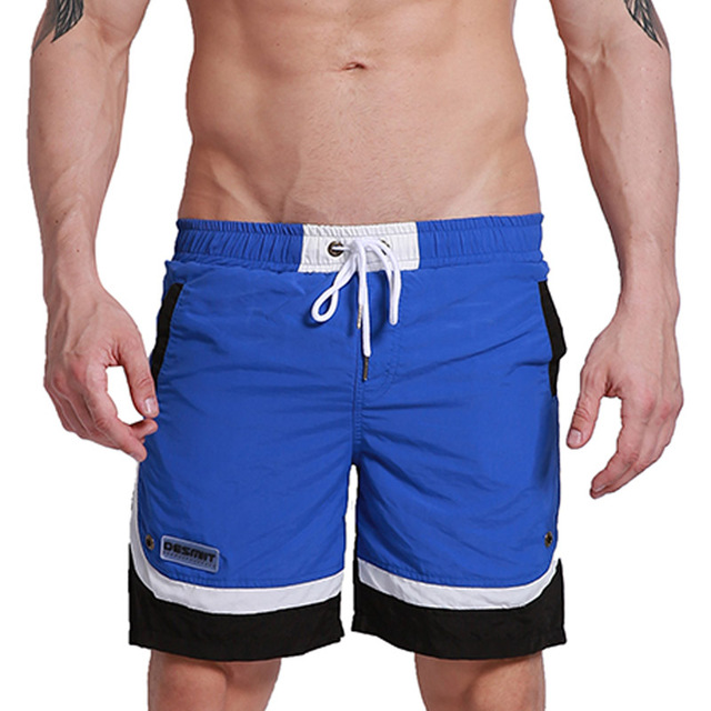 Quick Dry   Board     Shorts   Men Beach Swim   Shorts   Swimwear Brand Patchwork Inside Lining Male Bermuda Boardshorts Surf GYM Sportswear