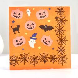 20 шт. Бумага салфетки 100% древесной ткани Бумага салфетки для дома Хэллоуин тыква летучая мышь cobwab призрак салфетку украшение партии