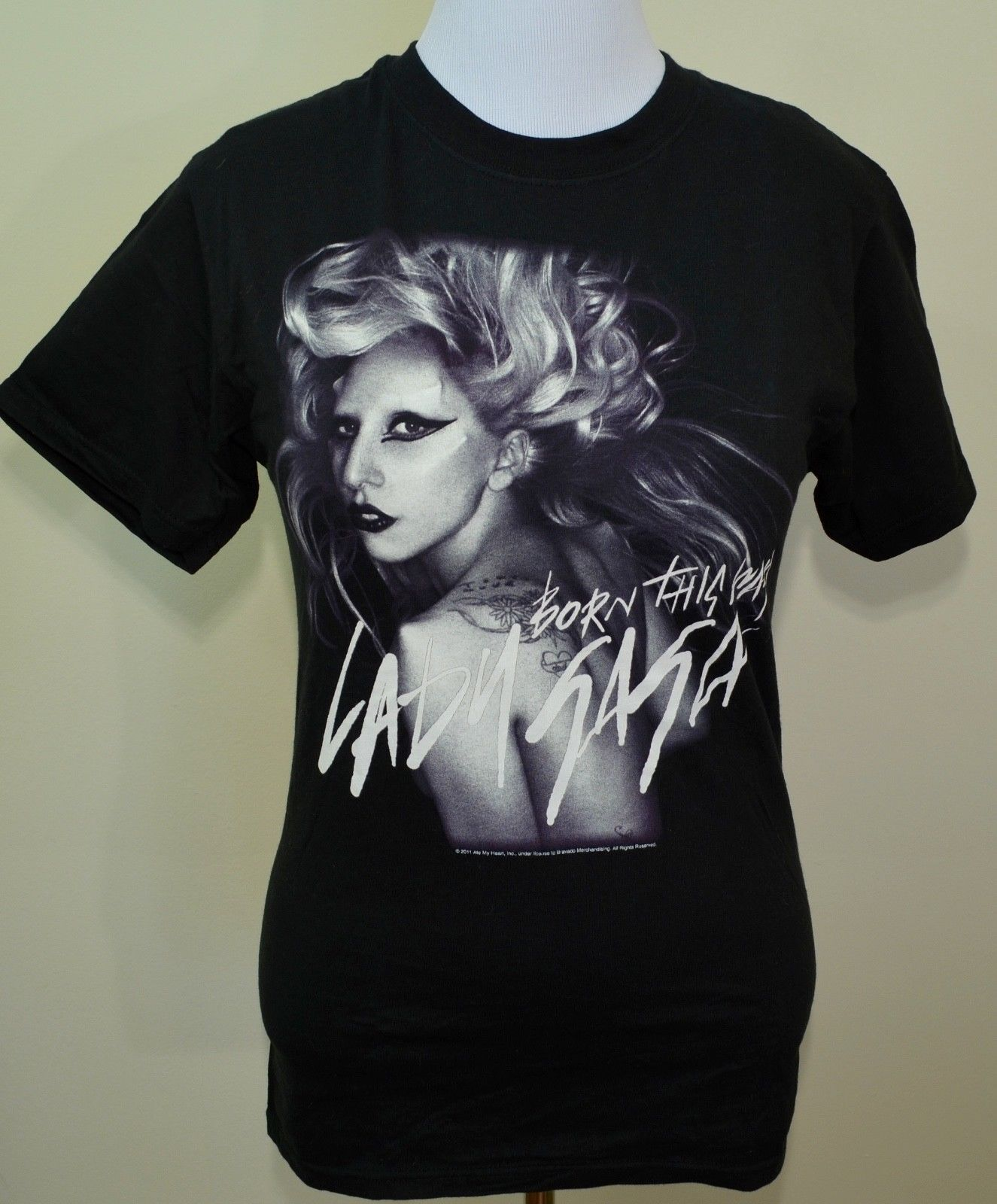 Lady Gaga t-shirt Born this Way Monster Ball tour 2011 medium black pop music