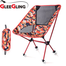 цены GLEEGLING FLC07 Camping Chair Portable Folding Fishing Seat for Outdoor Survival Picnic Beach Chair Fishing Ultralight Chair