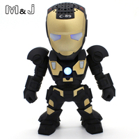 Hands Free USB Wireless Bluetooth Speaker LED Transformers Robots Subwoofer With FM Radio Support TF Card