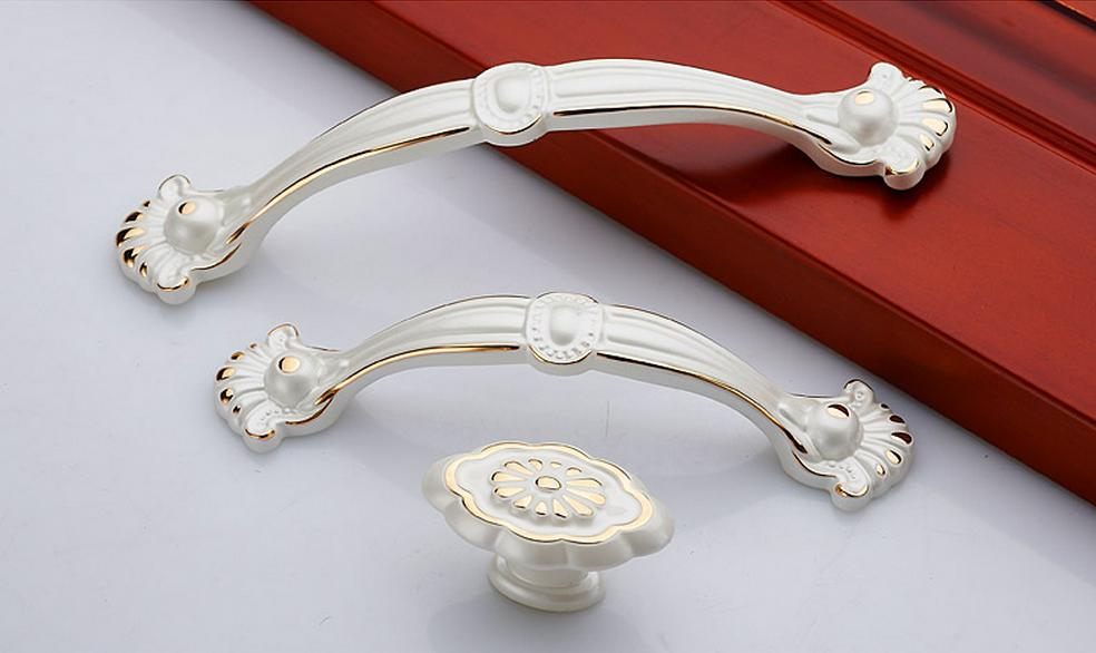 lvory white gold drawer dresser hanldle cupboard knobs furniture handle cabinet kitchen handle. Black Bedroom Furniture Sets. Home Design Ideas
