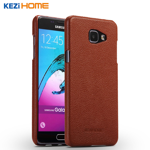 official photos 83a4b 9d358 Aliexpress.com : Buy Case for Samsung Galaxy A7 2016 KEZiHOME Litchi  Pattern Genuine Leather Hard Back Cover capa For A7 2016 A7100 Phone cases  coque ...