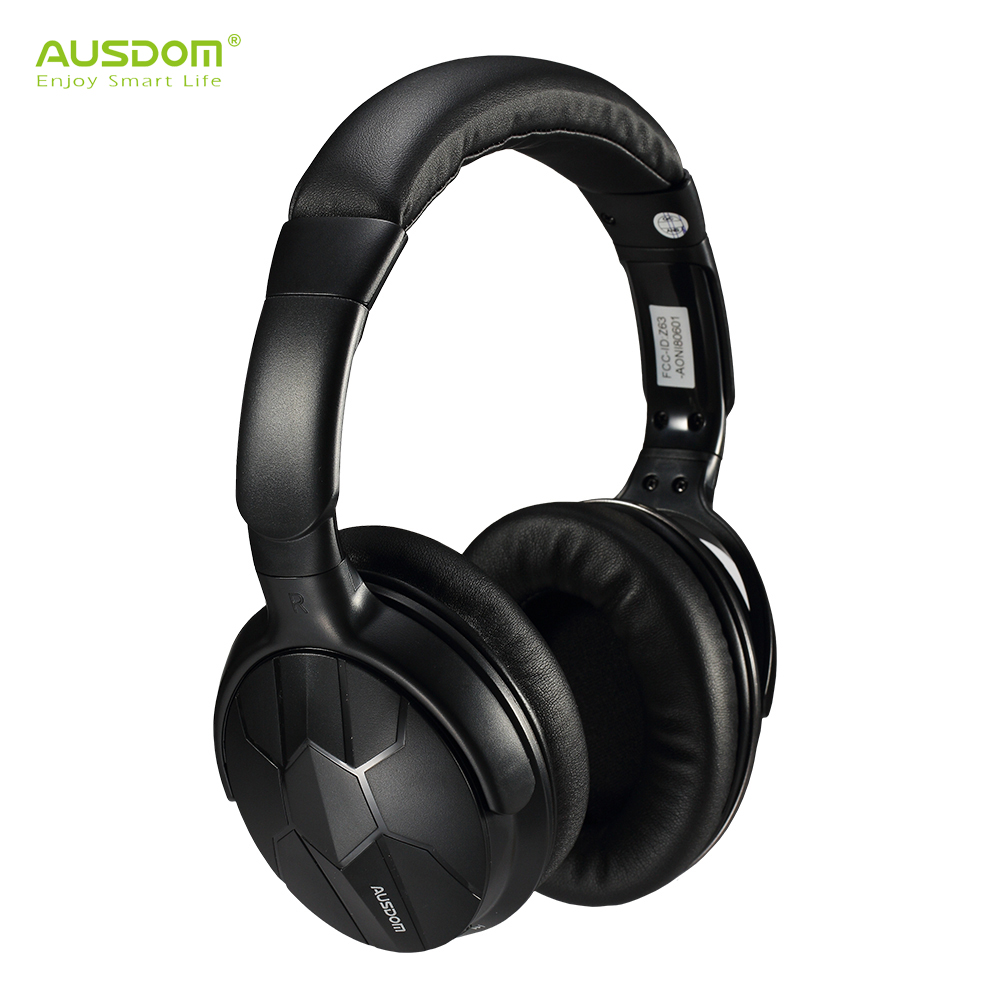 on sale ausdom m04s wireless bluetooth headset powerful bass nfc wired headphones with. Black Bedroom Furniture Sets. Home Design Ideas