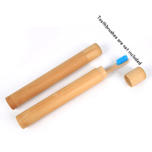 Natural Bamboo Toothbrush Tube Handmade Eco Friendly Case Travel Holder Carrier Container Kit