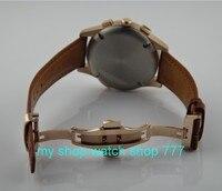44ミリメートルパーニスアジア自動自己風ムーブメントメンズ腕時計高品質高級腕時計ローズゴールドバタフライバックルx0010