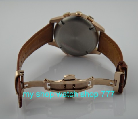 44mm  PARNIS Asian Automatic Self-Wind movement Mens watch  high quality Luxury watch Rose gold  butterfly buckle x001044mm  PARNIS Asian Automatic Self-Wind movement Mens watch  high quality Luxury watch Rose gold  butterfly buckle x0010