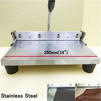 Free Shipping 1pc 14 350MM Leather Sewing Tool Manual Edge Folding Machine Leather Bag Linear Edge Folder Tool