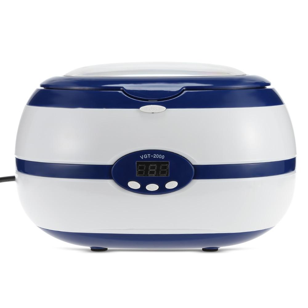Мини цифровой 600 мл ультразвуковой очистки Ультразвуковая машины ювелирные изделия для очков Часы ультразвуковой Для ванной Ручная стирка ...
