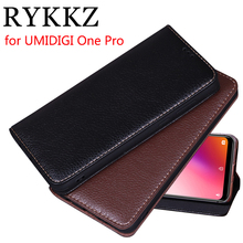 RYKKZ Luxury Leather Flip Cover For UMIDIGI One Pro Mobile Stand Case Max Phone