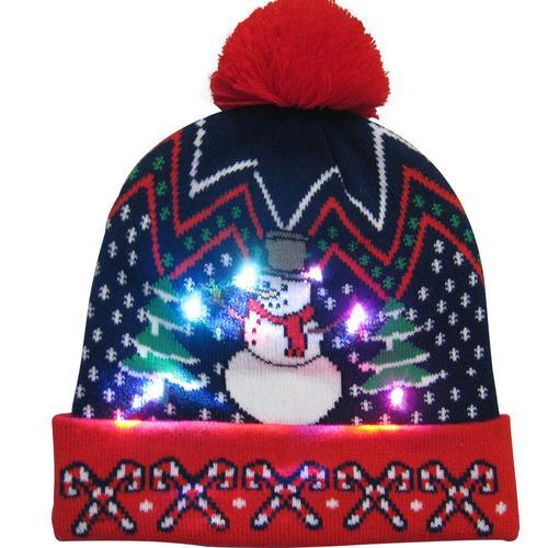 Г., 43 дизайна, светодиодный Рождественский головной убор, Шапка-бини, Рождественский Санта-светильник, вязаная шапка для детей и взрослых, для рождественской вечеринки - Цвет: 16
