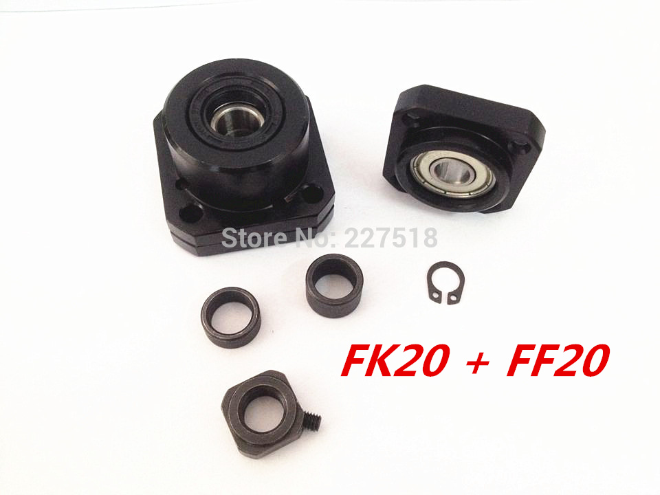FK20 FF20 Support for Ball Screw 2505 set :1 pc FK20 Fixed Side +1 pc FF20 Floated Side for XYZ CNC parts noulei ball screw end supports cnc xyz fk20 ff20 with nut deep groove ball bearing inside