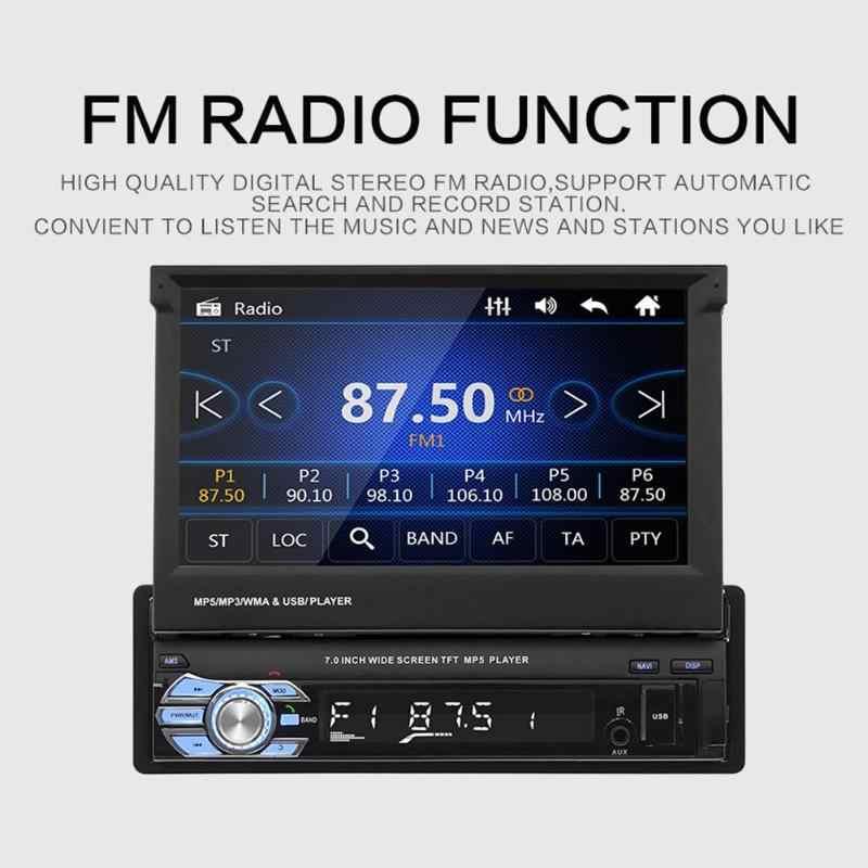 """ユニバーサル 7 """"1Din カーマルチメディアの自動ラジオ MP5 ビデオプレーヤー GPS Bluetooth ステレオの FM USB TF AUX ミラーリンク 47"""