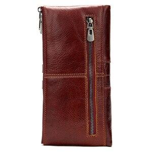 Image 2 - WESTAL 100% kadın cüzdan hakiki deri kadın debriyaj uzun cüzdan bayan cüzdanlar ve çantalar Portomonee para çanta para kesesi