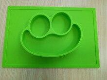 Spaß Mahlzeit Tischset-Silikon Tischset für Kinder, kleinkinder & Baby Platte BPA, PVC, phthalate Kostenlose S Größe 30,5*20,5*2,7 Cm