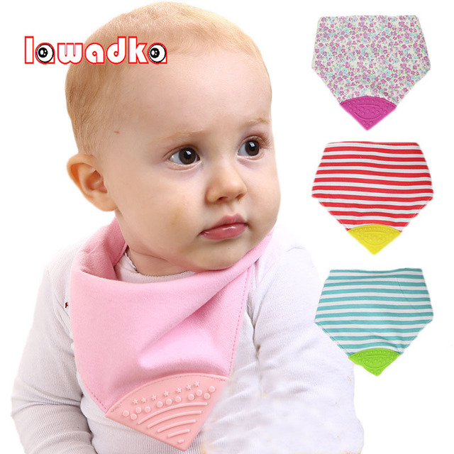Lawadka Cotton Silica Gel Baby Bib Infant Saliva Towels Baby Waterproof Bibs Newborn Wear Cartoon Striped Accessories