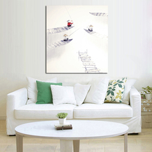 Handpainted Wall Pictures Abstract Ferrymen Simple Art Oil Painting on Canvas Wall Stickers Home Decorative Oil Paintings