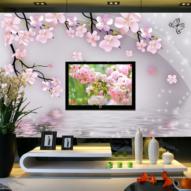2016 hot sale new can custom large big murals 3d wallpaper room plum flowers TV setting wall covering wall paper Chinese style 2503art large murals3d can be custom made furniture decorative wallpaper house ornamentation decor wall stickers chinese style