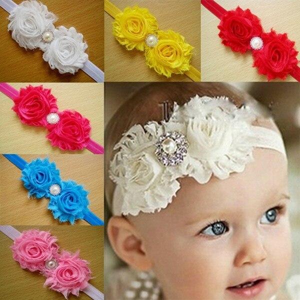 2 unids Venta Caliente Tela de Encaje Flores Diadema Para Bebés Bebés Niñas  Niños Niños Accesorios
