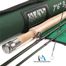 "Maximumcatch 3wt 7'6""ft Carbon Fly Fishing Rod V-light Fast Action Fly Rod For Carp Fishing Super Light"
