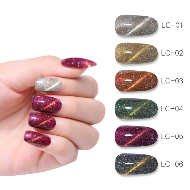 LILYCUTE 8ml Holographic 3D Cat Eye Gel