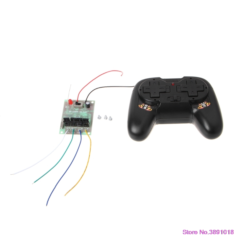 New 4CH 2.4G Wireless RC Toy Module Remote Control Receiver Transmitter 5A 50M