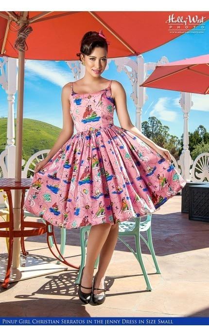 Robe Femmes Swing Été 1950 Vestidos Pin S Pink up Coton Neverland Plus Rockabilly Taille Robes Strap 4xl Spaghetti La Vintage dSSqcr8