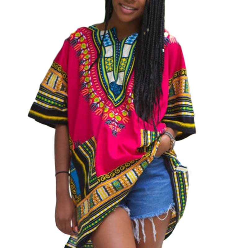 fashion streetwear Unisex Tribal African print t shirt Women Dashiki Hippie Style vintage retro tshirt summer 2018 tee shirt