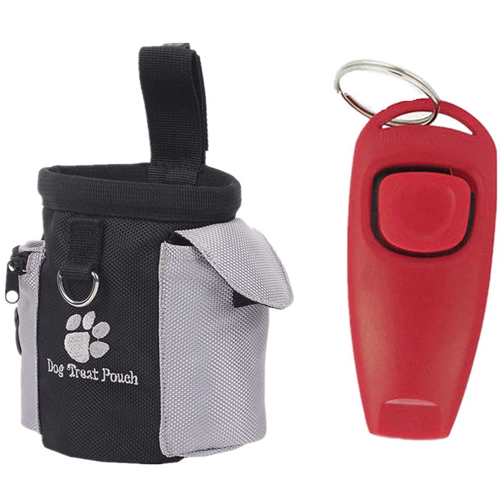 Pets Portable Detachable Dog Treat Bags + Whistle Doggie Feed Pocket Pouch Puppy Snack Reward Waist Bag Pet Training Products