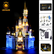 лучшая цена LIGHTAILING LED Light Kit For Creative Series Cinderella Princess Castle Model Light Set Compatible With 71040