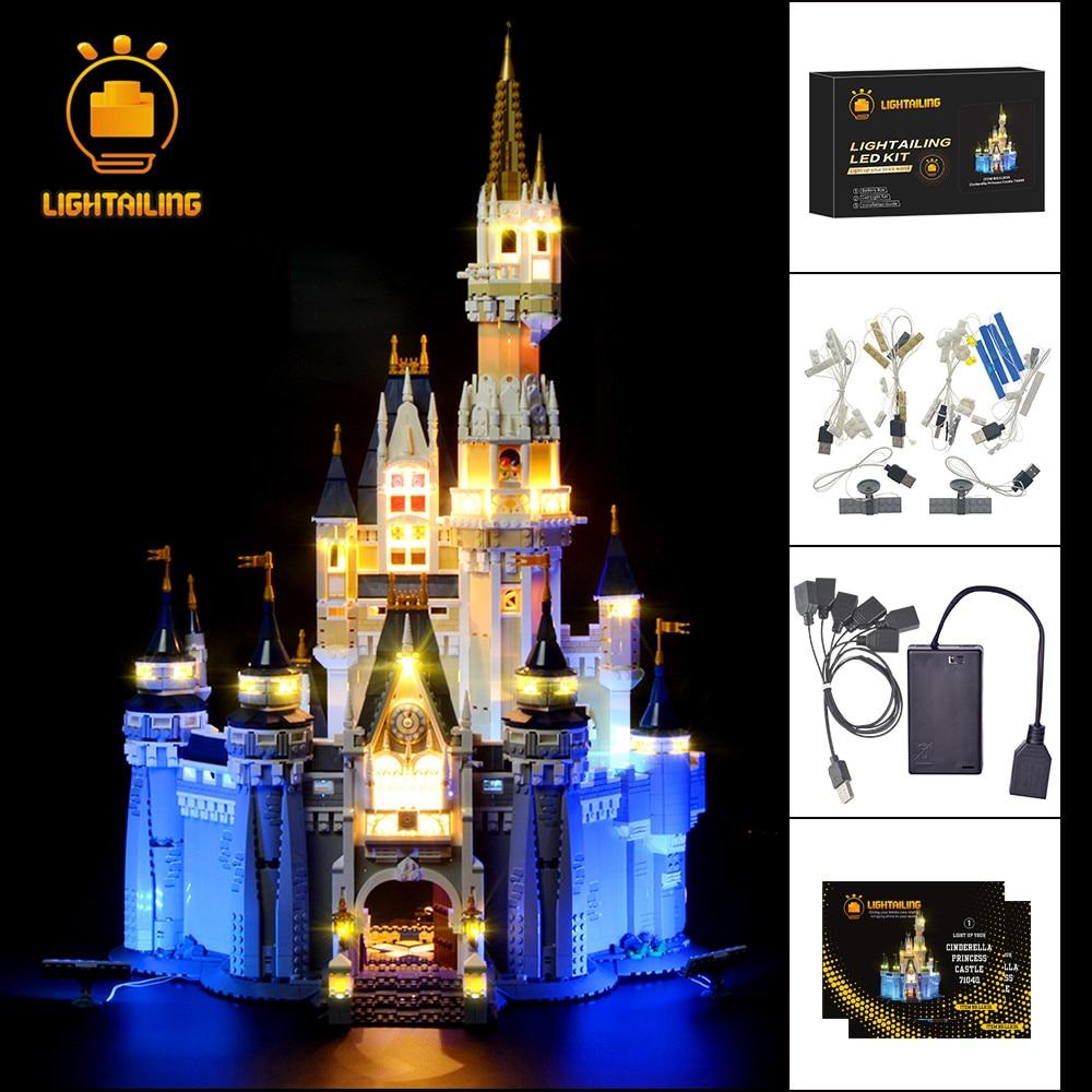 LIGHTAILING مجموعة إضاءة LED ل الإبداعية سلسلة سندريلا الأميرة قلعة نموذج ضوء مجموعة متوافق مع 71040-في حواجز من الألعاب والهوايات على  مجموعة 1