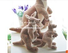 lovely plush kangaroo toys cute stuffed kangaroo monther&baby high quality birthday gift about 25cm