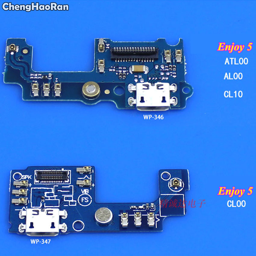 ChengHaoRan USB Charging Port Micro Dock Connector Flex Cable For Huawei Enjoy 5 CL10 CL00 6 AL10 AL00 6S 7Plus Replacement Part