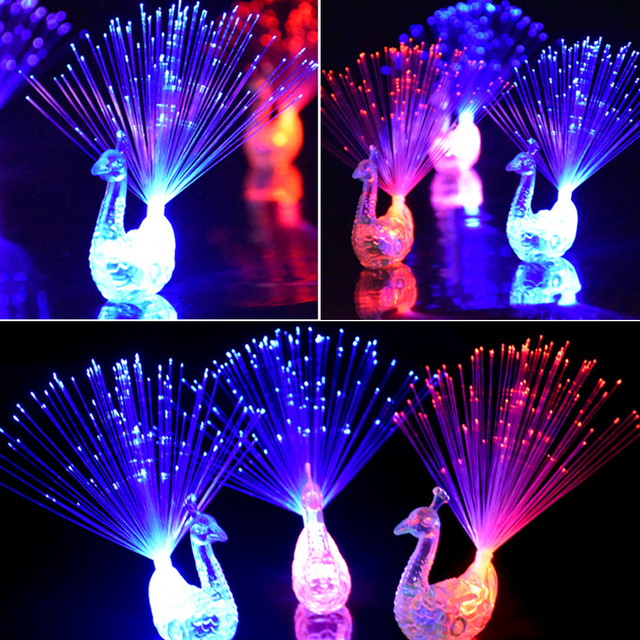 Colorful LED Light-up Rings Peacock 1