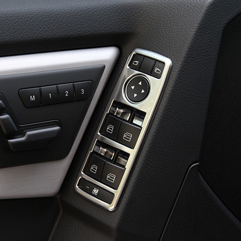 Matte Inner Car Door Speaker Trim Cover 4pcs  For Benz CLA C117 W117 2013-2019